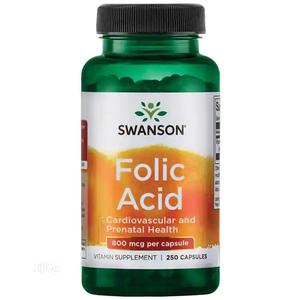 Folic Acid 800mcg 250 Capsules for TTC, Prenatal, Postnatal | Vitamins & Supplements for sale in Lagos State, Alimosho