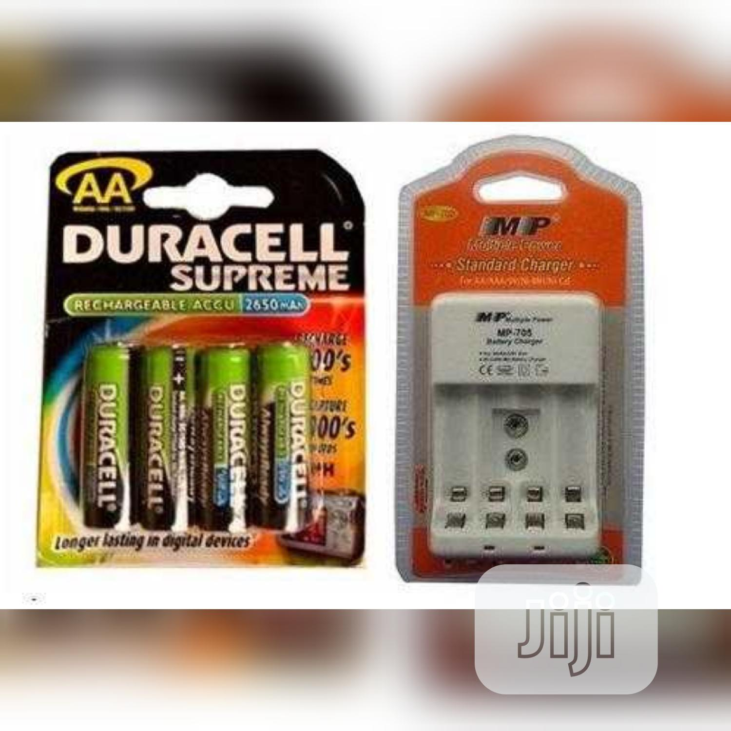 Duracell Rechargeable Battery And Charger | Accessories & Supplies for Electronics for sale in Ikeja, Lagos State, Nigeria