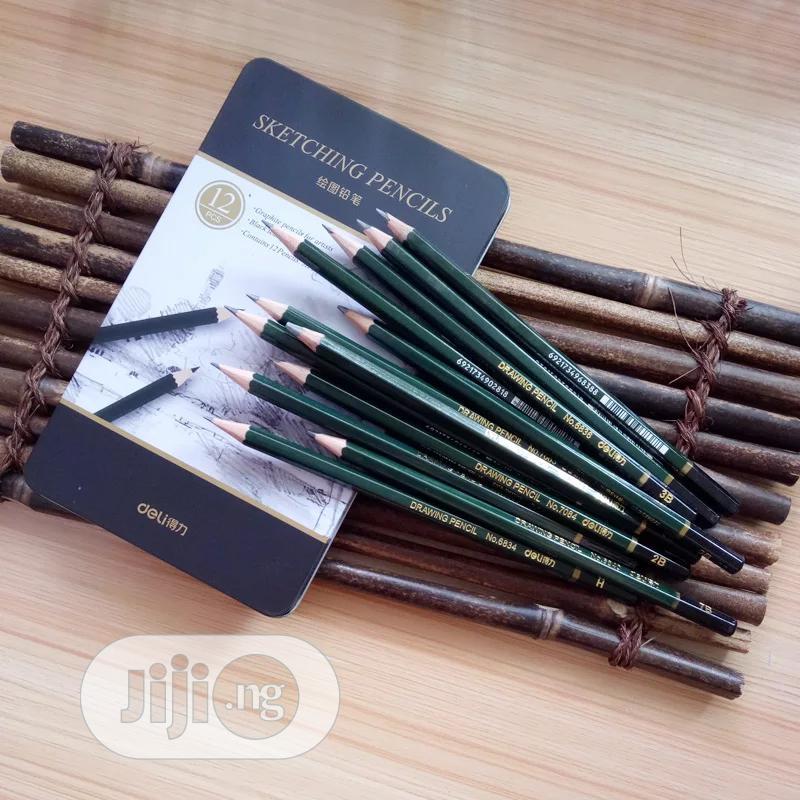 12 Pcs/Box Standard Pencil 3H-9B Stationey Sketch Drawing | Arts & Crafts for sale in Lagos Island (Eko), Lagos State, Nigeria