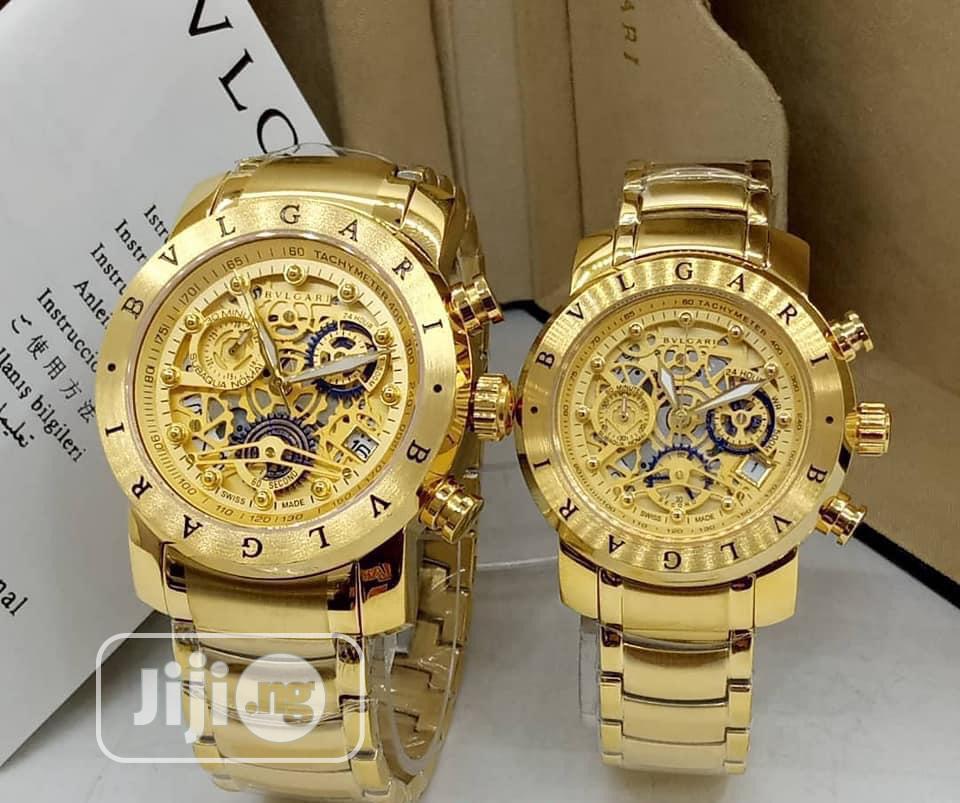 Bvlgari Chain Wrist Watch(Double)