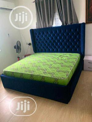 6x6 Upholstery Paded Bed Frame 2 Side Drawer With Dressing | Furniture for sale in Lagos State, Ojo