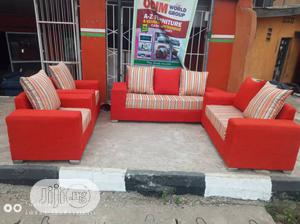 7 Seater Pillowed Fabric Sofa | Furniture for sale in Lagos State, Ikeja
