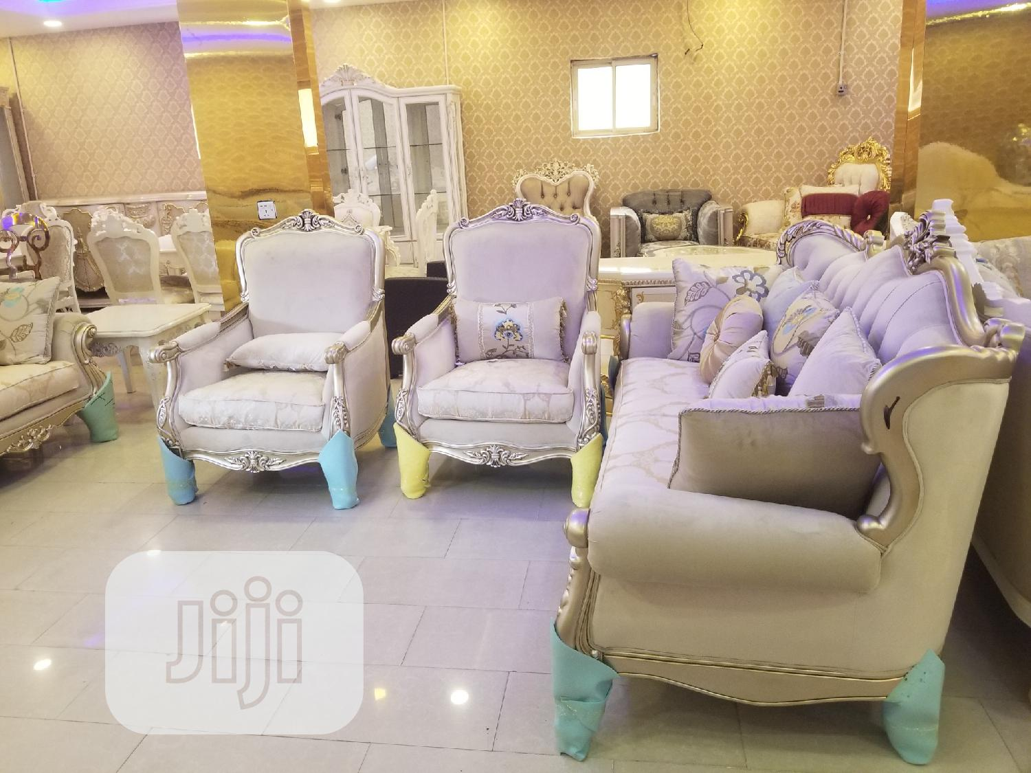 Full Set Of Turkish Royal Fabric Sofa Chair Available