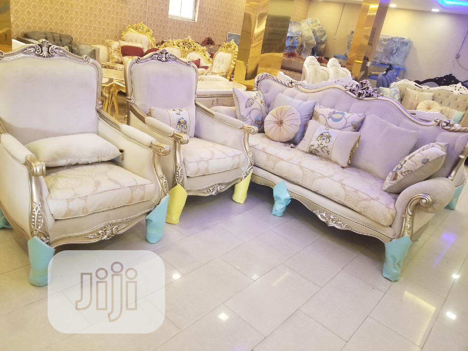 Full Set Of Turkish Royal Fabric Sofa Chair Available   Furniture for sale in Ajah, Lagos State, Nigeria