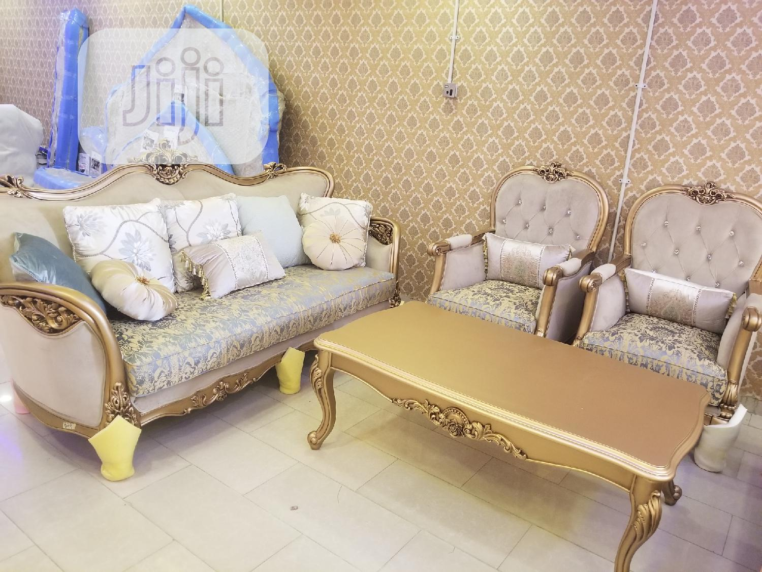 Full Set Of Turkish Royal Fabric Sofa Chair Available | Furniture for sale in Ajah, Lagos State, Nigeria