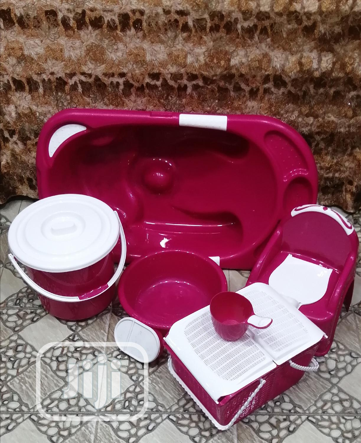 Imported Baby Bath Set Pink Colour | Baby & Child Care for sale in Lagos Island (Eko), Lagos State, Nigeria