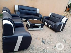 Set of 7 Sitters Sofa Chair With Centre Table. Leather Couch   Furniture for sale in Lagos State, Ajah