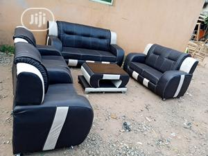 Set Of 7 Sitters Sofa Chair Wit Centre Table. Leather Couch   Furniture for sale in Lagos State, Ojo