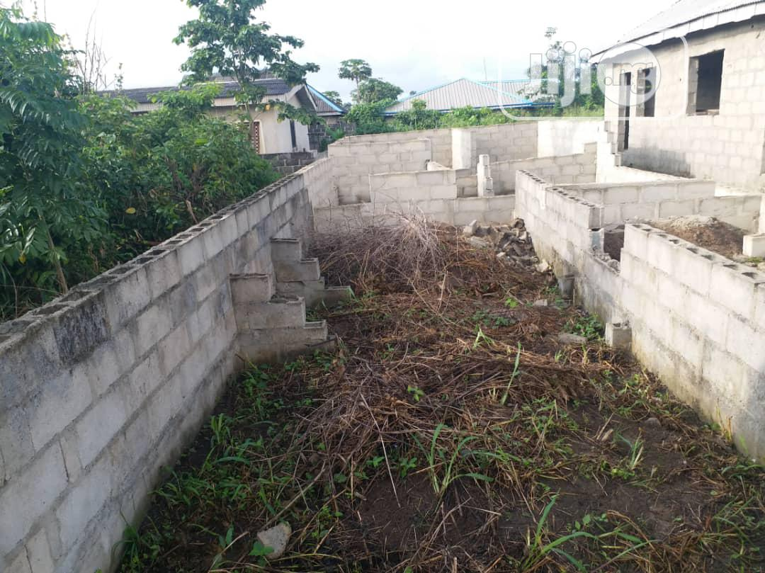 Half Plot of Land With 3 Bedroom Foundation at Macaualy Area | Land & Plots For Sale for sale in Ikorodu, Lagos State, Nigeria