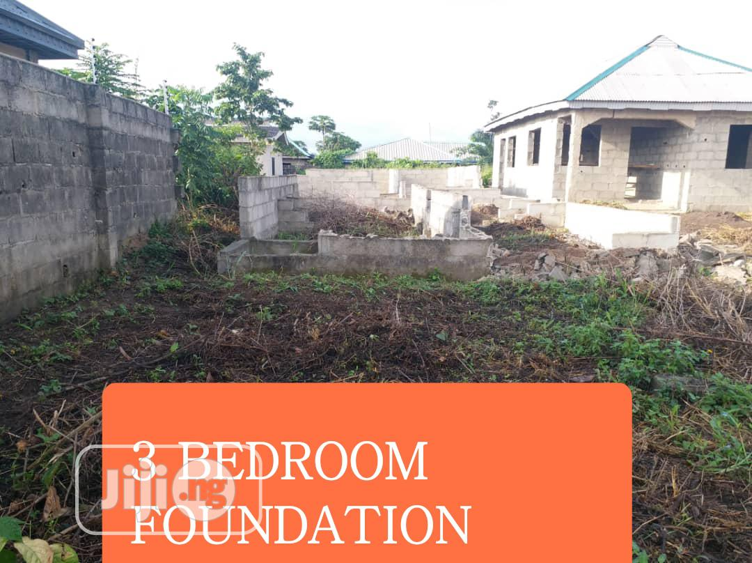 Half Plot of Land With 3 Bedroom Foundation at Macaualy Area