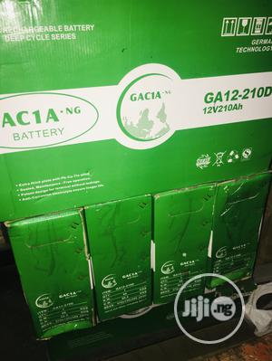 210ah 12v Gacia Slim Battery Available With 1yr Warranty   Solar Energy for sale in Lagos State, Ikeja
