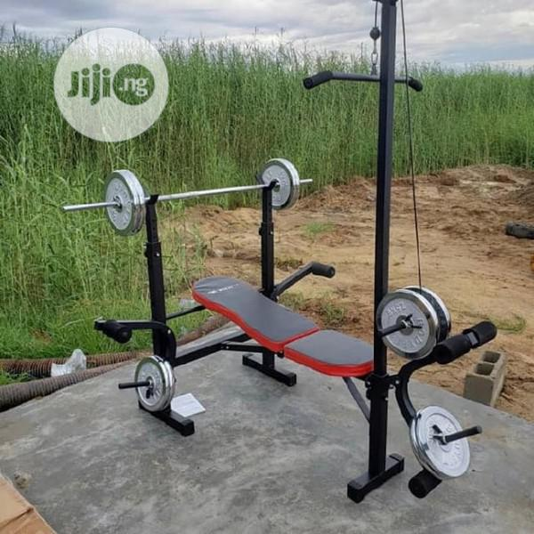 Weight Bench With Lat Pull
