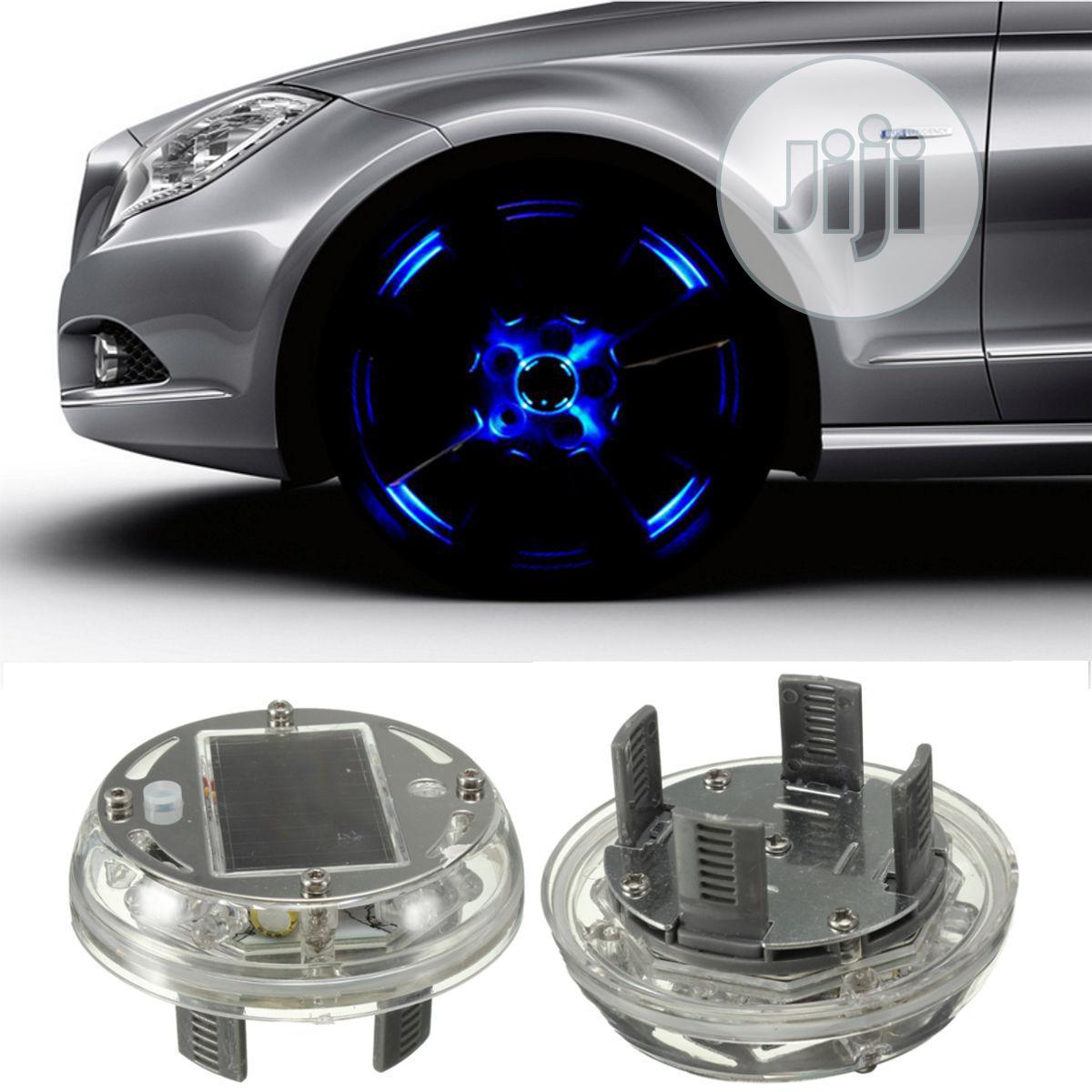 1pcs 4 Modes 12 LED RGB Car Solar Energy Flash Wheel Light   Vehicle Parts & Accessories for sale in Lagos Island (Eko), Lagos State, Nigeria