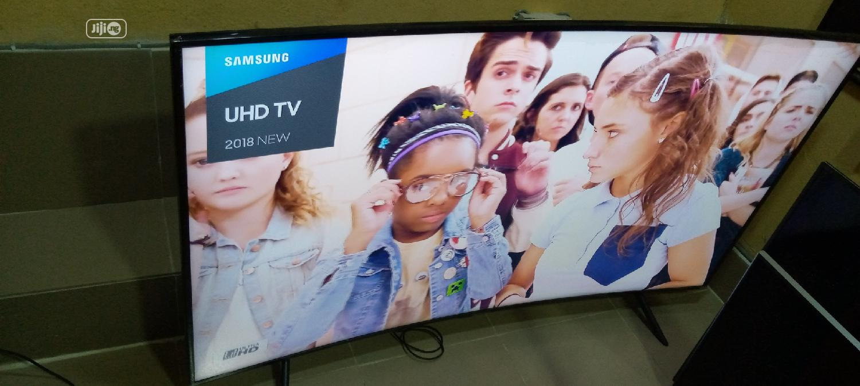 "65"" Samsung Smart Curve Uhd 4k Hdr Tv 2018model { NU7300 }   TV & DVD Equipment for sale in Ojo, Lagos State, Nigeria"