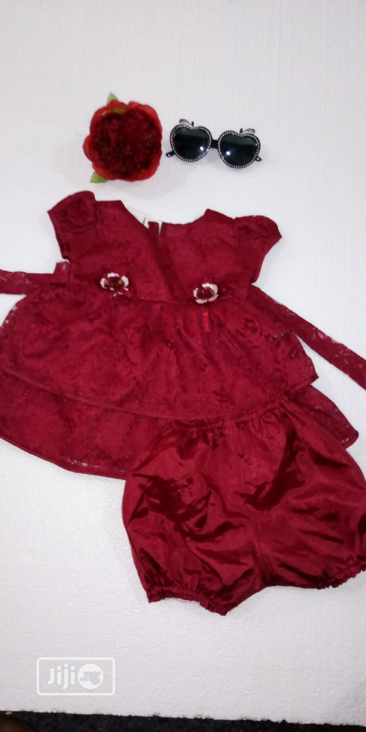 Archive: Maroon Colour Dress With Pant for 0-6m