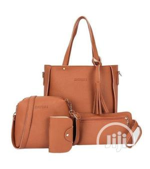 4 in 1 Sets Quality Ladies Handbag(Leather) Brown and Black | Bags for sale in Lagos State, Isolo