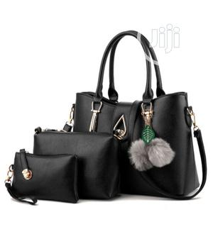 3 Sets Quality Leather Handbag-Black and Onions Colour   Bags for sale in Lagos State, Isolo