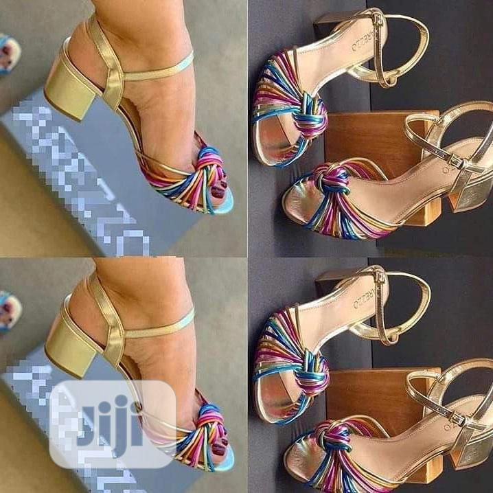 Female Fashion Gold Shoes.