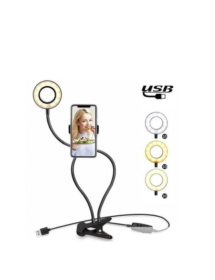 Selfie Ring Light With Phone Holder