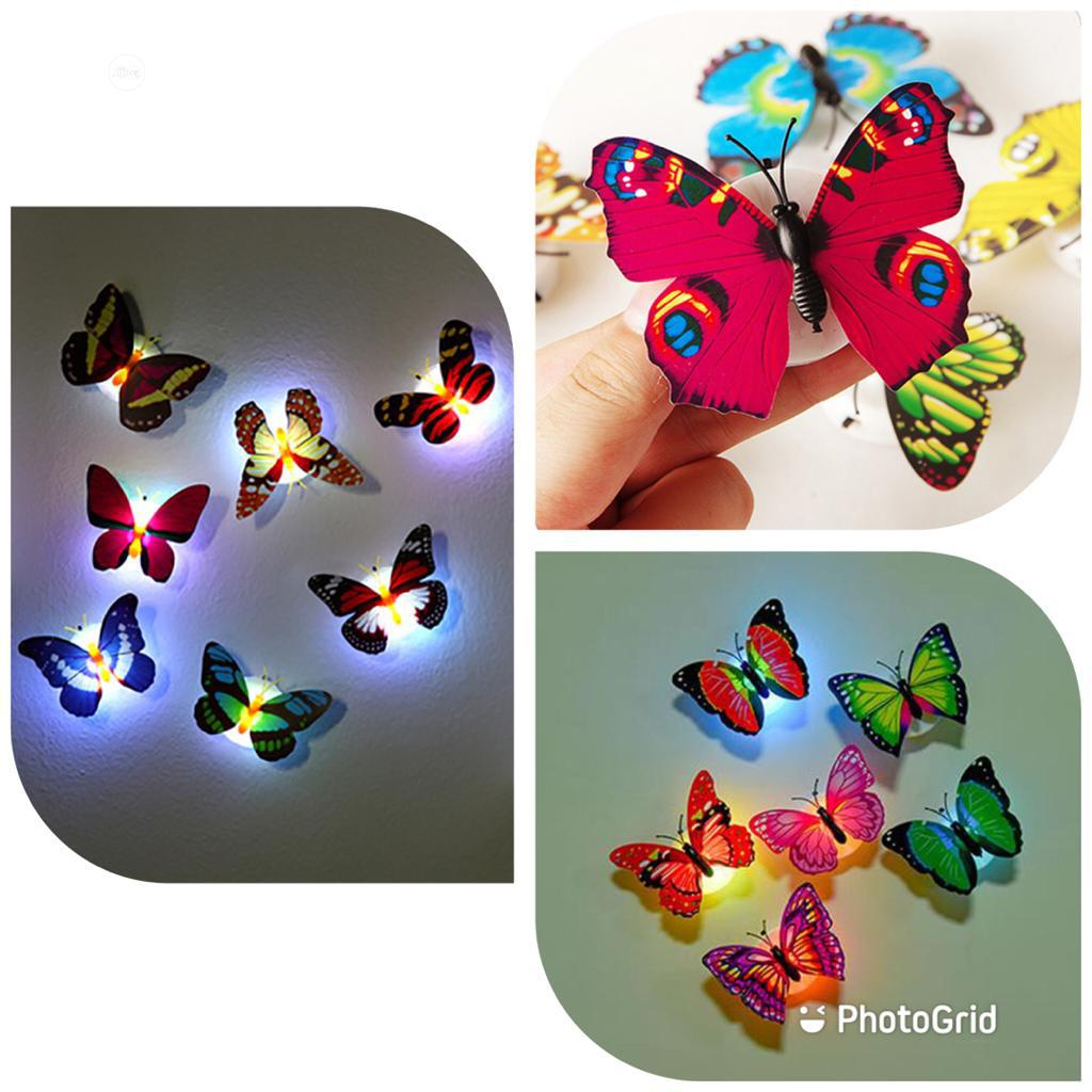 Multi Color 3D Double Layer Butterfly Wall Stickers