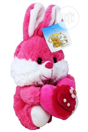 Fluffy Pink Bunny Teddy Teddy 20cm   Toys for sale in Lagos State, Amuwo-Odofin
