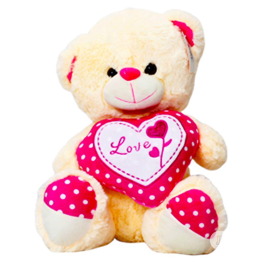 Cream Fluffy Teddy Bears