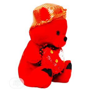 Red Teddy Bear on Shiny Cap | Toys for sale in Lagos State, Amuwo-Odofin