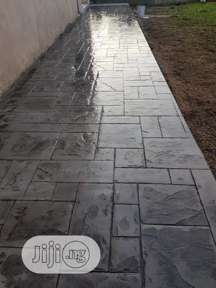 Stamp Concrete Floors, Epoxy Floor, Murals, Window Blinds. | Building & Trades Services for sale in Oshodi, Lagos State, Nigeria