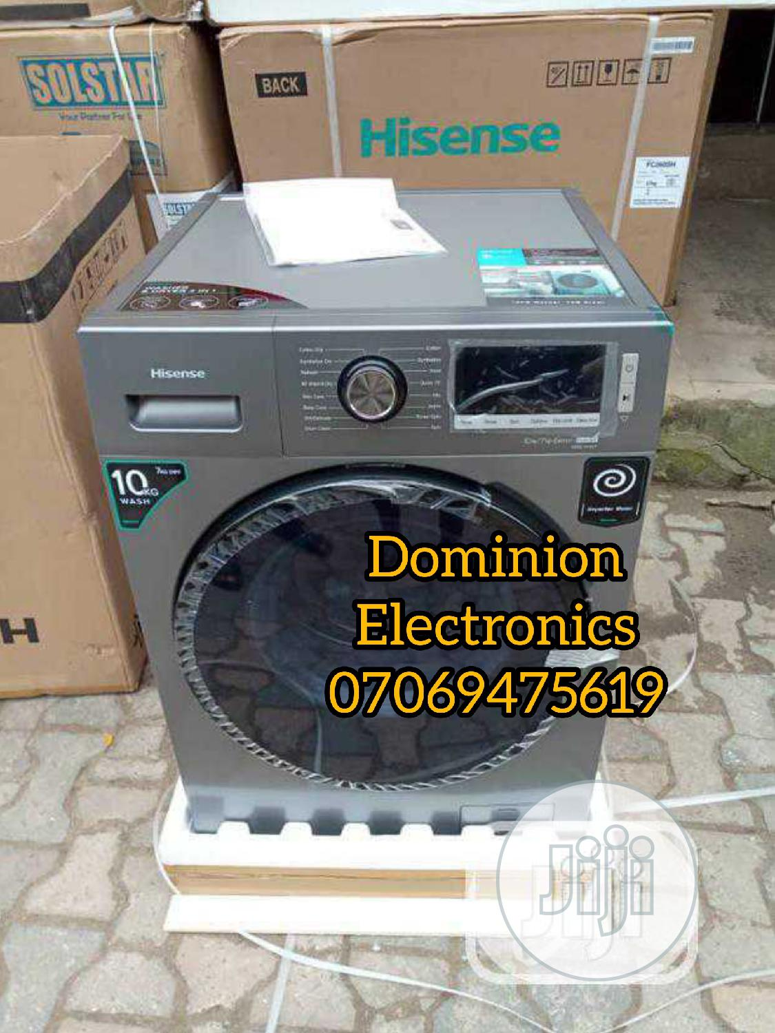 New Hisense Front Load Wash Dryer 10kg/7kg Automatic 1year