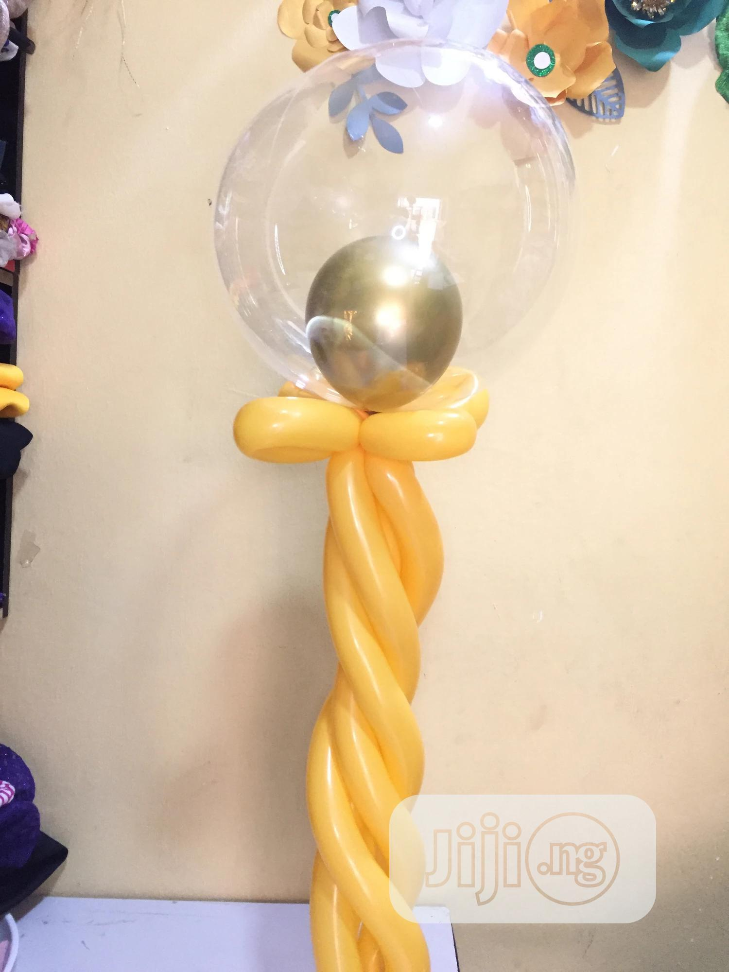 Transparent Bobo Balloon 20"