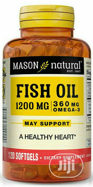 Mason Natural Fish Oil 1200mg/ 300mg Omega X 120 | Vitamins & Supplements for sale in Lagos State, Surulere