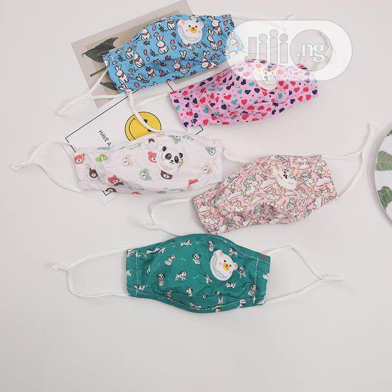 Kids Washable Facemask With Air Valve And Pm2.5 Filter