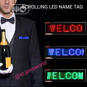 LED Name Tag | Accessories & Supplies for Electronics for sale in Lagos State, Shomolu