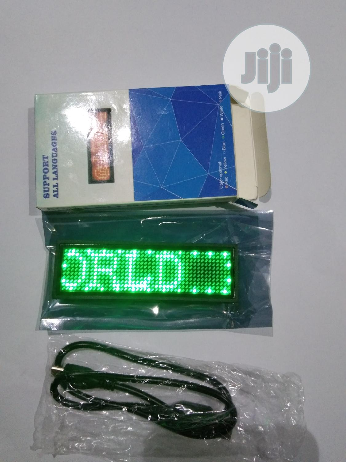 LED Name Tag | Accessories & Supplies for Electronics for sale in Shomolu, Lagos State, Nigeria