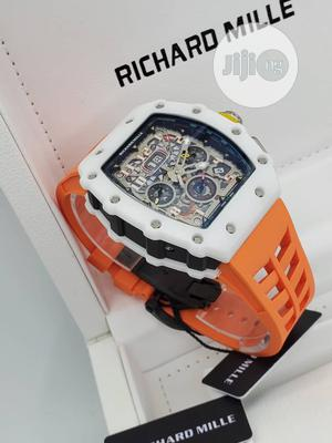 Richard Mille Automatic Chronograph Rose Rubber Strap Watch   Watches for sale in Lagos State, Lagos Island (Eko)