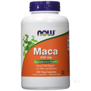 NOW Food - Maca 500 Mg. - 250 Capsules | Sexual Wellness for sale in Lagos State, Lekki
