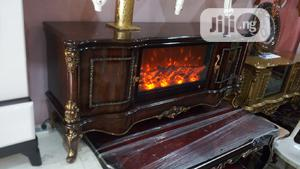 This Pure Wooden Royal Fire Place Tv Stand   Furniture for sale in Lagos State, Ipaja