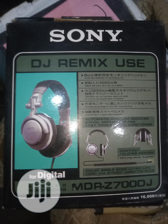 Sony Professional Black Dj Headphone | Headphones for sale in Lagos Island (Eko), Lagos State, Nigeria