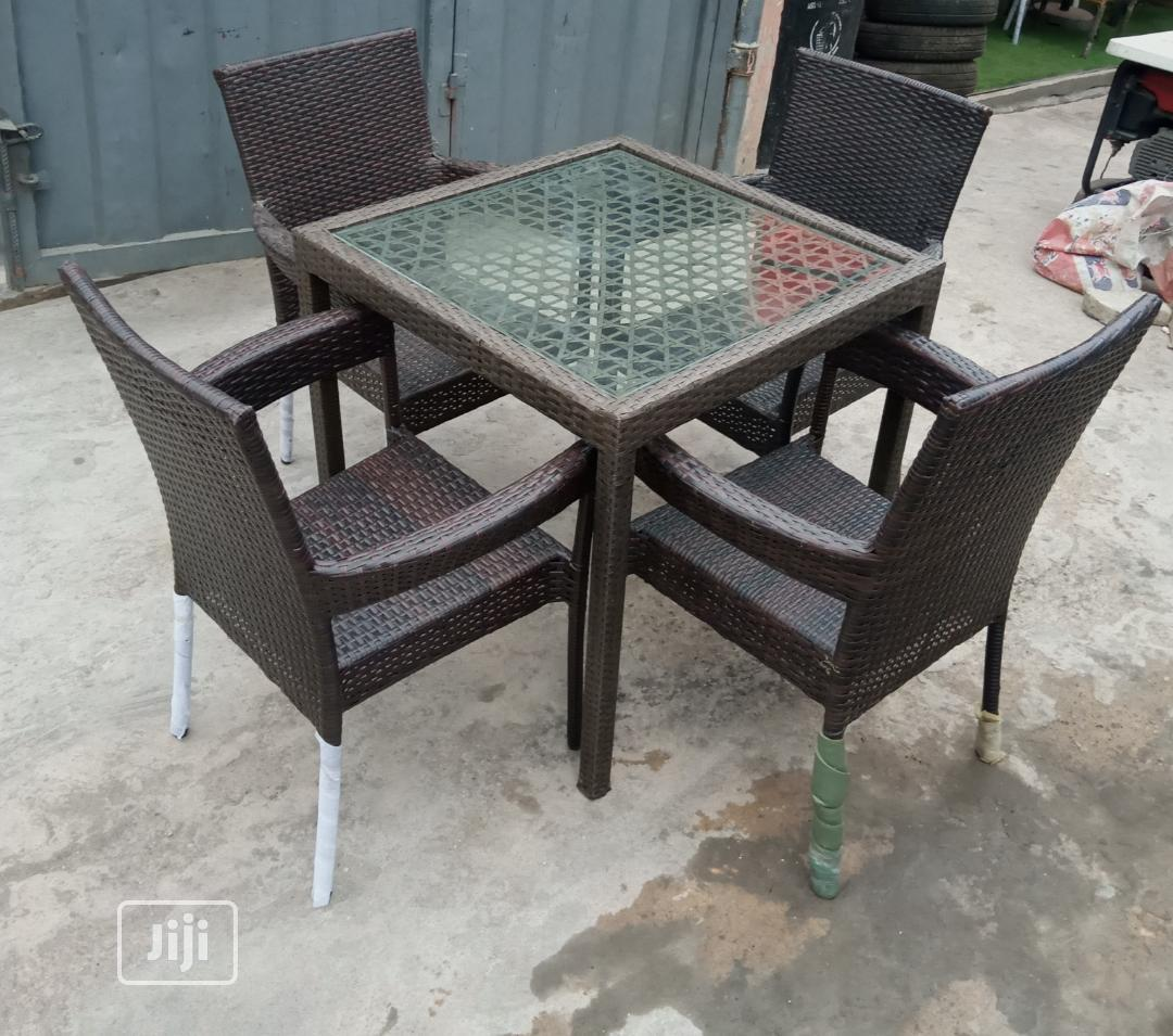 Kim Chair And Glass Table | Garden for sale in Ikeja, Lagos State, Nigeria