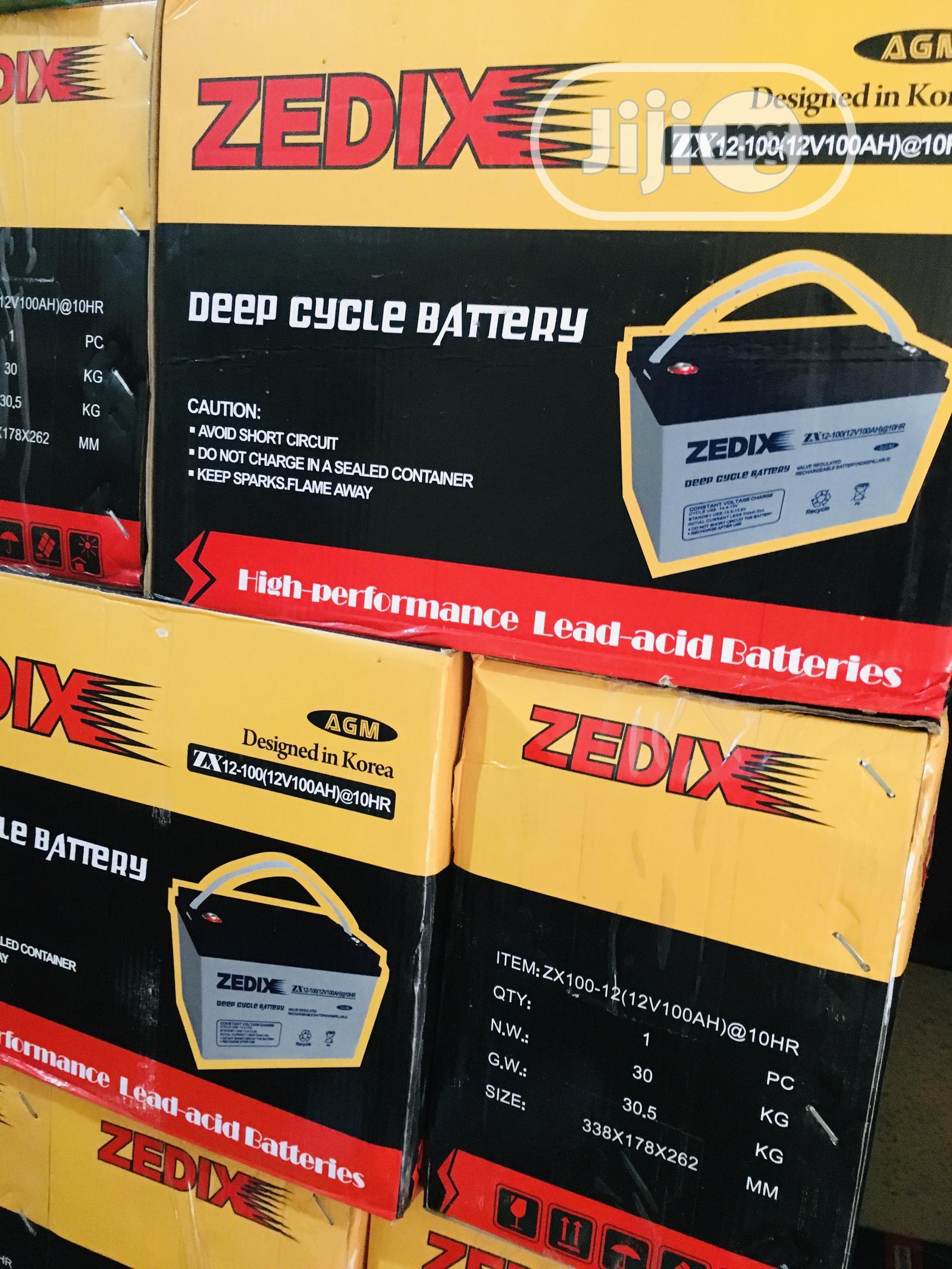 100ah 12v Zedix Battery Available With 1yr Warranty