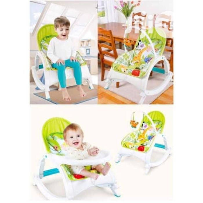 Deluxe 3 In 1 Infant To Toodler Baby Rocker With Detachable Tr