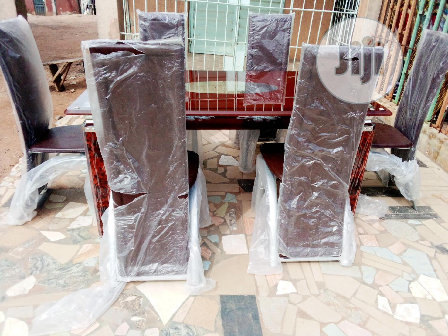4ft Padded Dinning Table With 6chairs   Furniture for sale in Ifako-Ijaiye, Lagos State, Nigeria