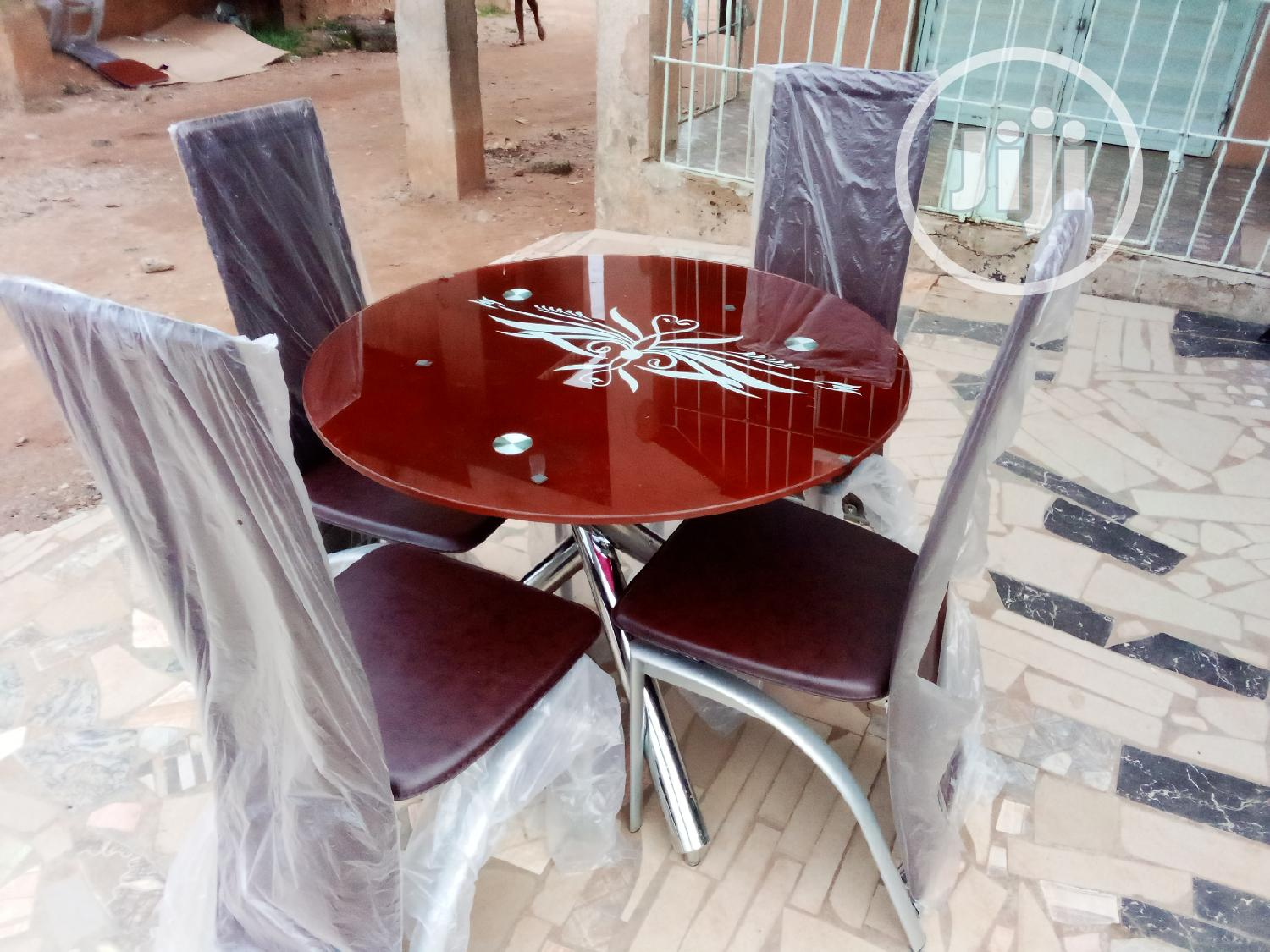 Round Dinning Table With 4chairs | Furniture for sale in Ifako-Ijaiye, Lagos State, Nigeria