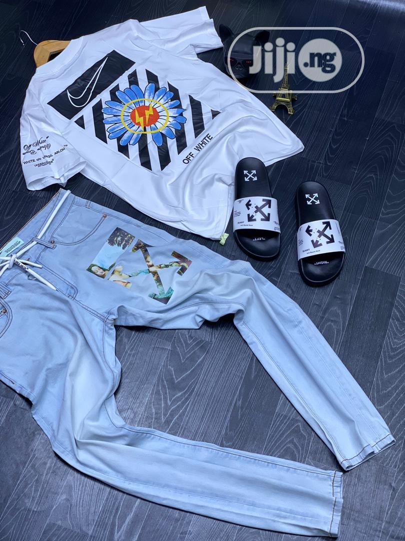 Combo Luxury Updates, Off White Jean, Polo, and Slippers   Clothing for sale in Lagos Island (Eko), Lagos State, Nigeria