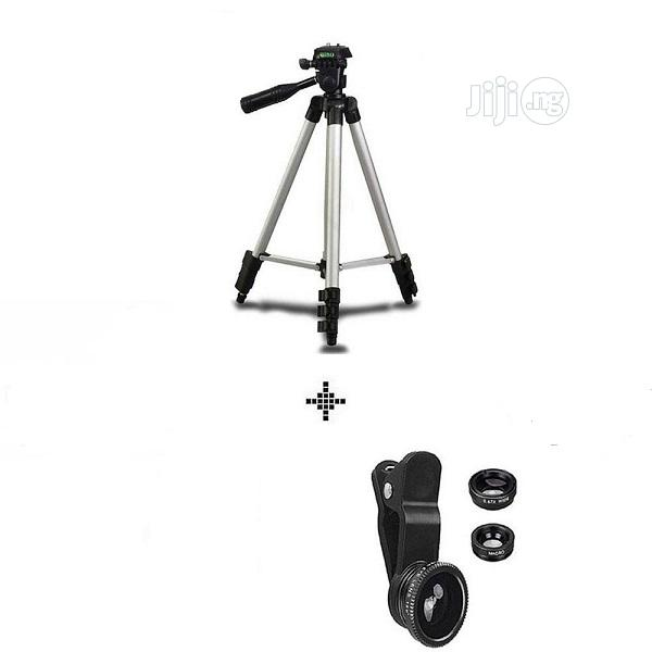 Mobile Tripod Stand With Clip Lens | Accessories for Mobile Phones & Tablets for sale in Ikeja, Lagos State, Nigeria