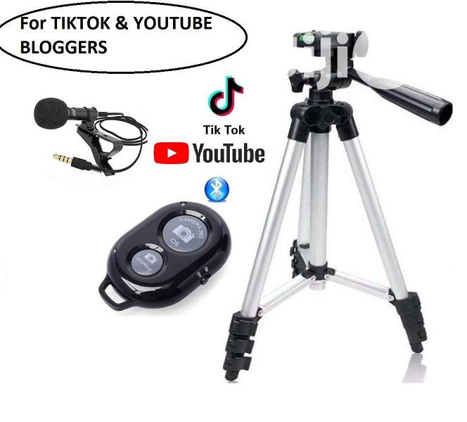 Mobile Tripod With Lapel Mic & Bluetooth Remote