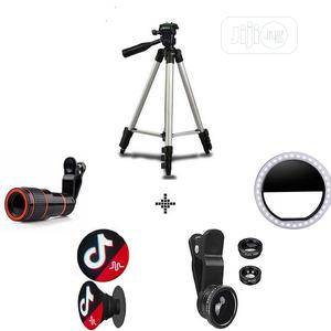 Mobile Tripod With Telescope Phone Ring Light & Clip Lens   Accessories for Mobile Phones & Tablets for sale in Lagos State, Ikeja