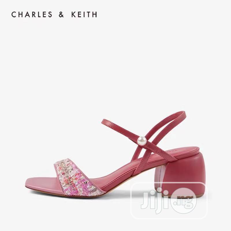 Archive: New Female Quality Charles and Keith Block Heel Sandals