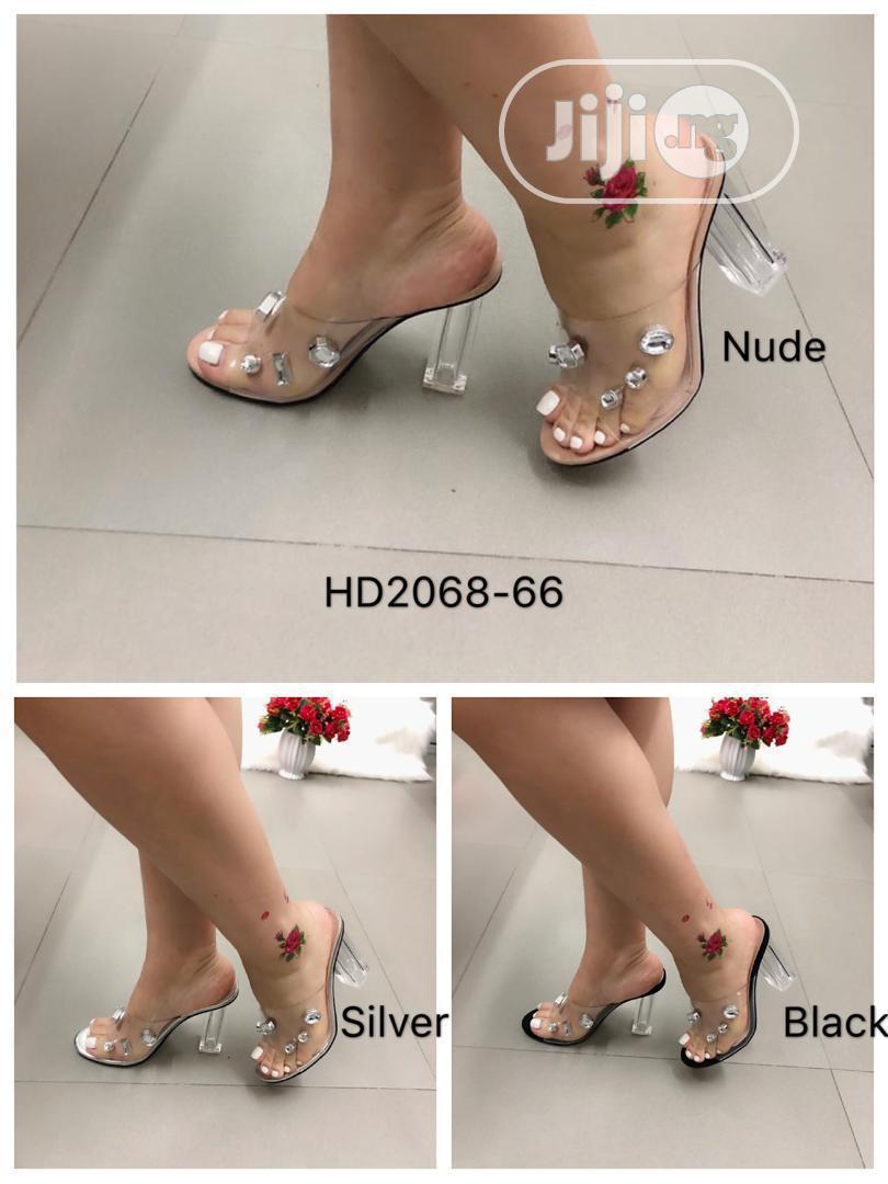 New Female Quality Block Heel Slippers