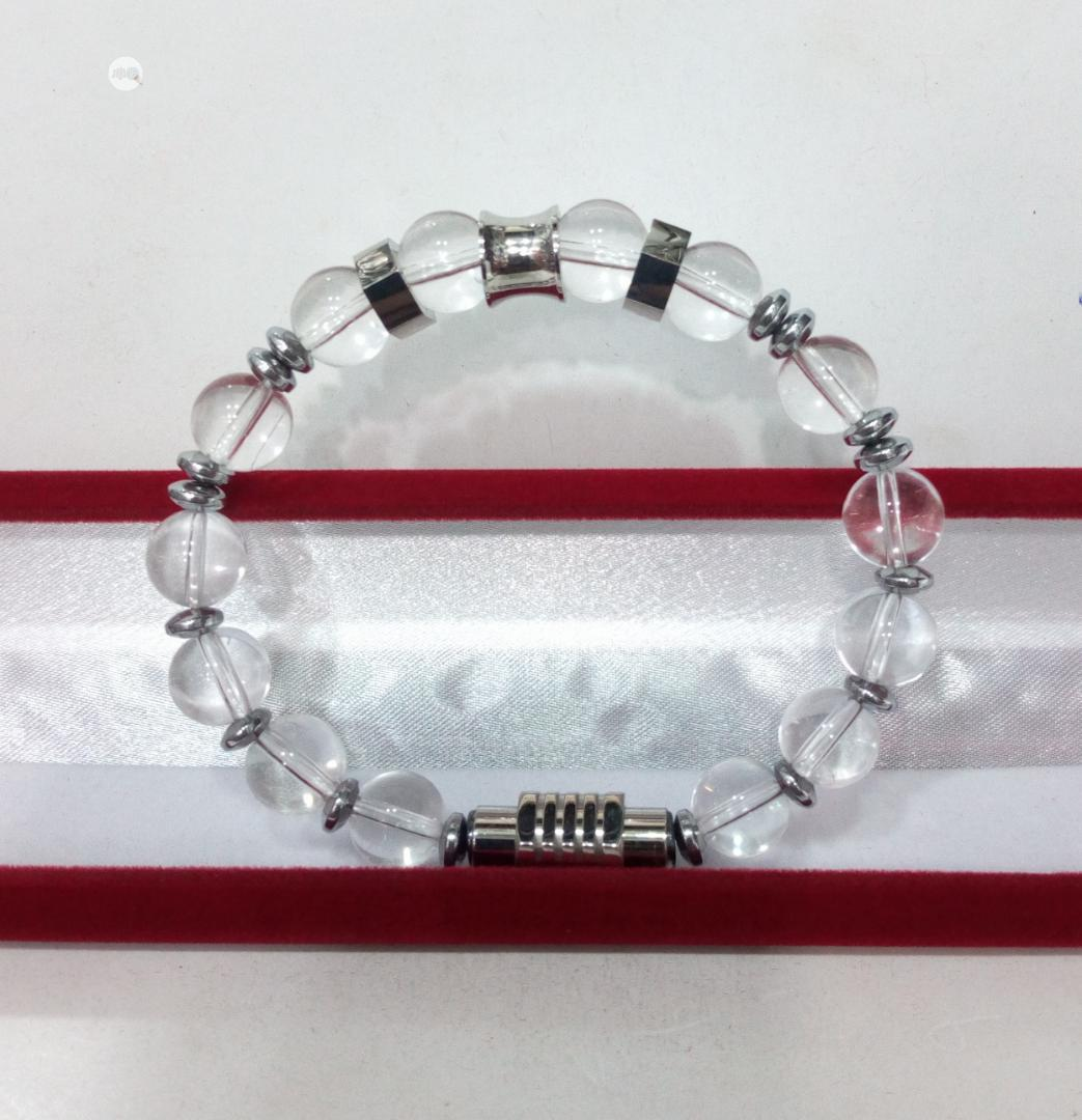 Crystal Clear Beaded Bracelet